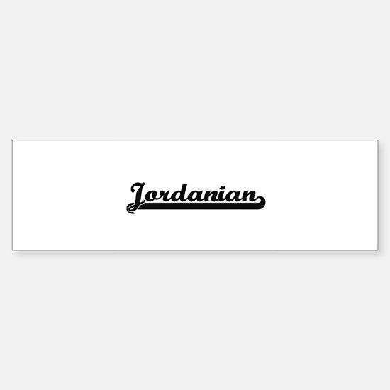 Jordanian Classic Retro Design Bumper Bumper Bumper Sticker