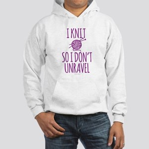 Knit So I Don't Unravel Hooded Sweatshirt