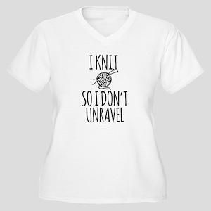 Knit So I Don't Unravel Plus Size T-Shirt