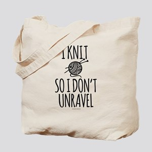 Knit So I Don't Unravel Tote Bag