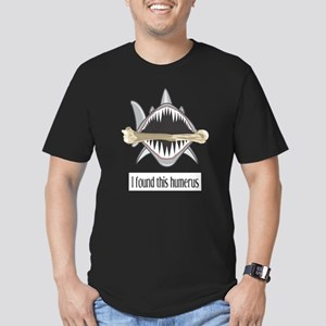 Funny Shark Men's Fitted T-Shirt (dark)
