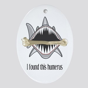 Funny Shark Oval Ornament