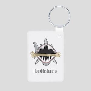 Funny Shark Aluminum Photo Keychain