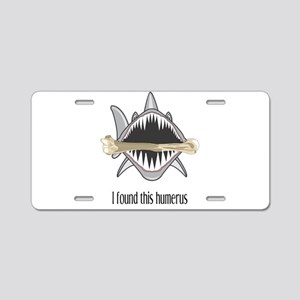 Funny Shark Aluminum License Plate