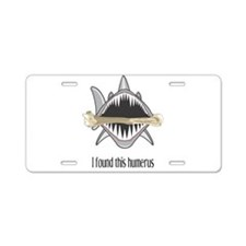 Funny Shark Aluminum License Plate