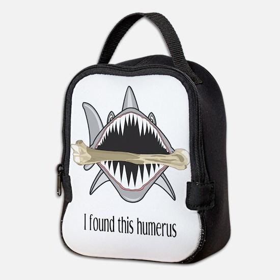 Funny Shark Neoprene Lunch Bag