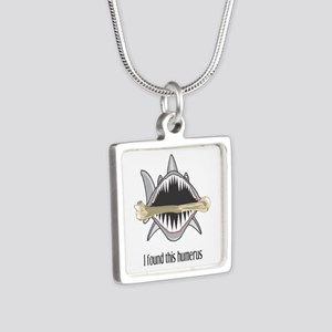 Funny Shark Silver Square Necklace