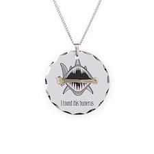 Funny Shark Necklace Circle Charm