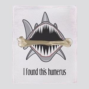 Funny Shark Throw Blanket