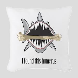 Funny Shark Woven Throw Pillow