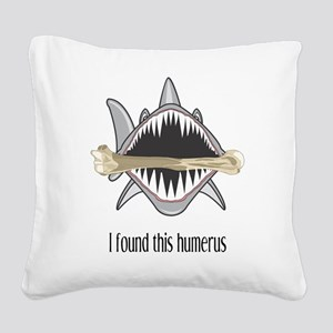 Funny Shark Square Canvas Pillow