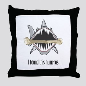 Funny Shark Throw Pillow