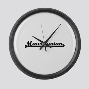 Mauritanian Classic Retro Design Large Wall Clock