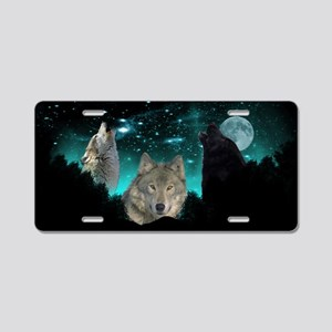 Wolves Twilight Aluminum License Plate