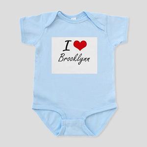 I Love Brooklynn artistic design Body Suit