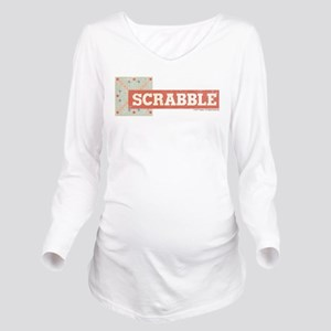 Scrabble Tiles Long Sleeve Maternity T-Shirt