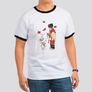 Chinese Girl with Blossoms T-Shirt