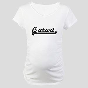 Qatari Classic Retro Design Maternity T-Shirt