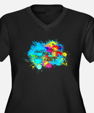Splash Words of Good Plus Size T-Shirt
