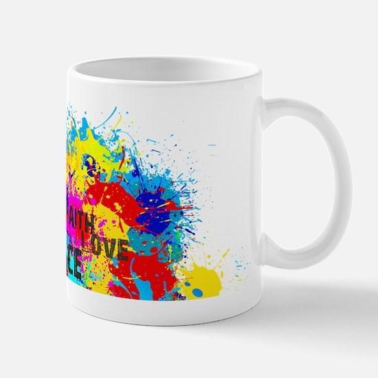 Splash Words of Good Peace Mugs