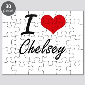 I Love Chelsey artistic design Puzzle