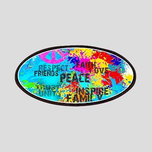 Splash Words of Good Peace Patch