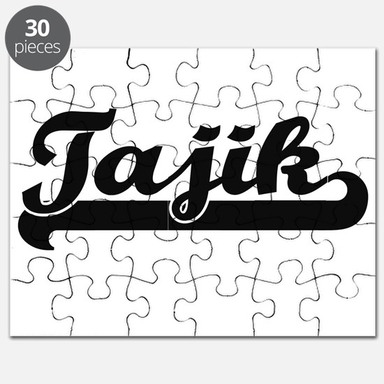 Tajik Classic Retro Design Puzzle