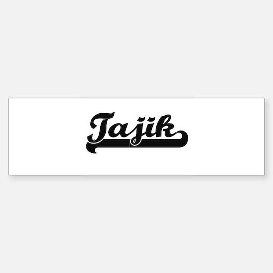 Tajik Classic Retro Design Bumper Bumper Bumper Sticker