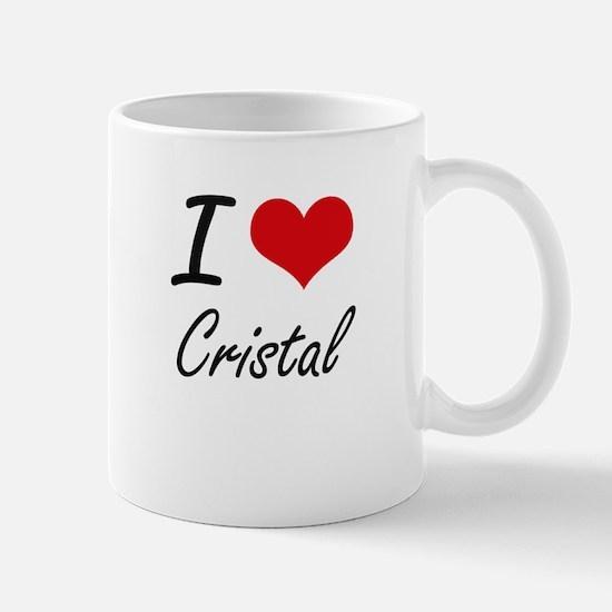 I Love Cristal artistic design Mugs