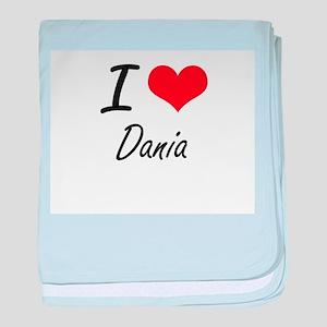 I Love Dania artistic design baby blanket