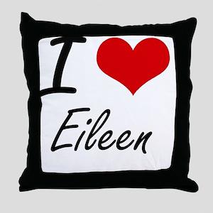 I Love Eileen artistic design Throw Pillow