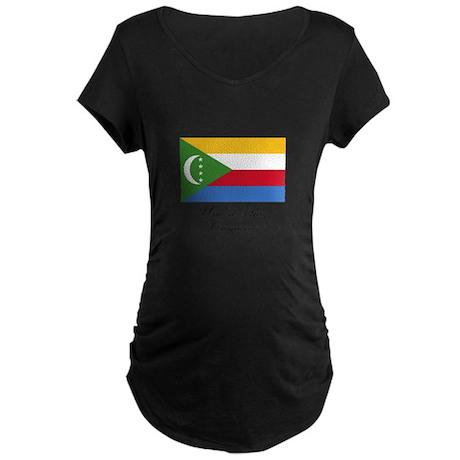 Union of the Comoros - Flag Maternity Dark T-Shirt