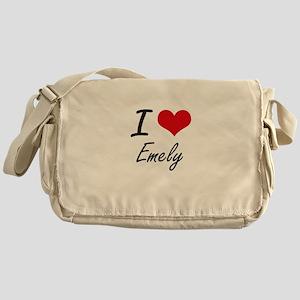 I Love Emely artistic design Messenger Bag