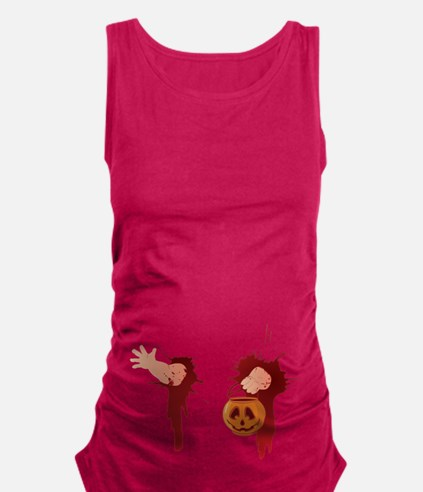 Funny Halloween Baby Maternity Tank Top