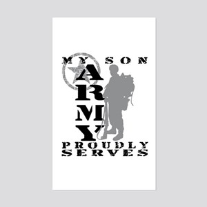 Son Proudly Serves 2 - ARMY Rectangle Sticker