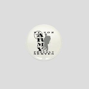 Son Proudly Serves 2 - ARMY Mini Button
