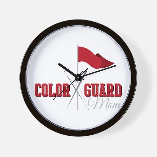 Color Guard Mom Wall Clock