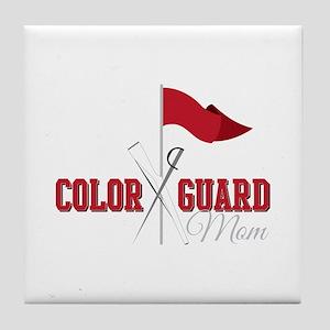 Color Guard Mom Tile Coaster