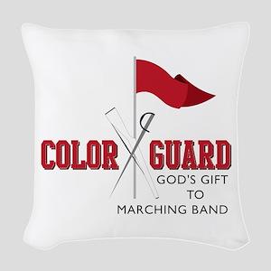 Color Guard Gift Woven Throw Pillow
