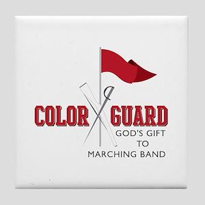 Color Guard Gift Tile Coaster