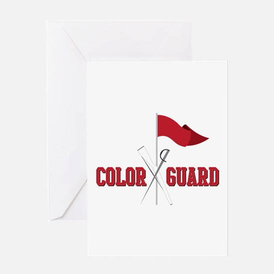 Color Guard Greeting Cards