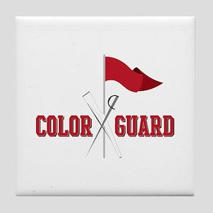 Color Guard Tile Coaster