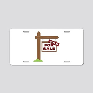 Sold Sign Aluminum License Plate