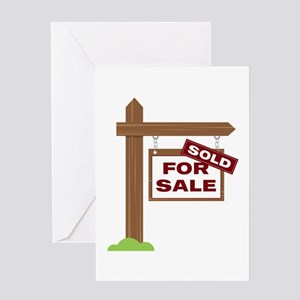 Sold Sign Greeting Cards