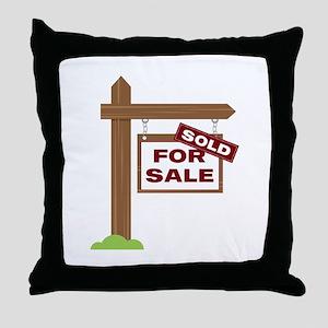 Sold Sign Throw Pillow