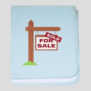 Sold Sign baby blanket