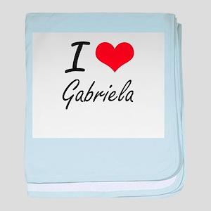 I Love Gabriela artistic design baby blanket