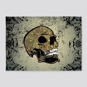Sugar skull 5'x7'Area Rug