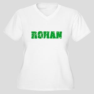 Rohan Name Weathered Green Desig Plus Size T-Shirt