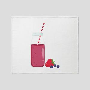 Fruit Smoothie Throw Blanket